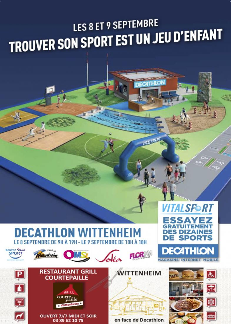 VITALSPORT - DECATHLON les 8 et 9 septembre 2018